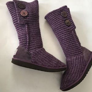 Ugg Australia | Purple Sweater Boots
